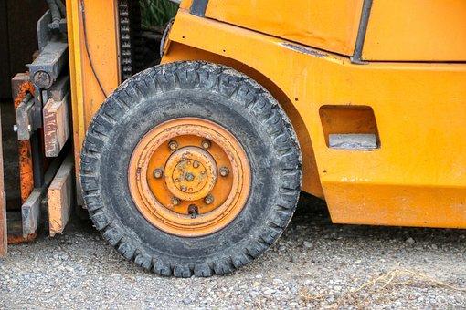 Wheel, Stacker, Forklift, Vehicle, Stock, Pallets, Work