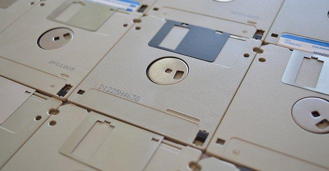 Floppy Disks, Old, Disk, Computing, Vintage, Retro