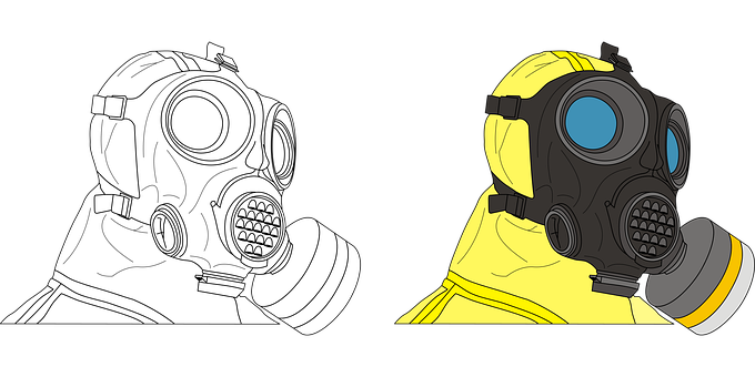 Protective Suit, Mask, Absorber