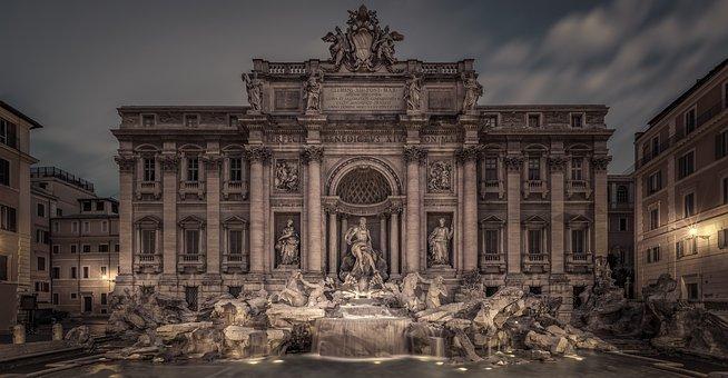 Fountain Di Trev, Fountain, Di Trev, Rome, Italy