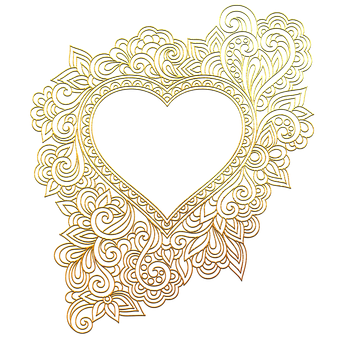 Heart, Gold, Design, Logo, Golden Heart, Valuable