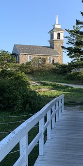 Church, Hilltop, Stone, Star Island, New Hampshire