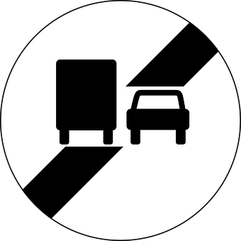 End Of No Overtaking By Lorries, Overtaking, Lorries