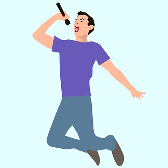 Singer, Singing, Microphone, Rock Musician