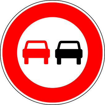 No Overtaking, Traffic Sign, Sign, Regulatory Sign