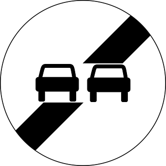 End Of No Overtaking, Traffic Sign, Sign