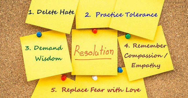 Hate, Wisdom, Compassion, Love, Fear, Tolerance, Change