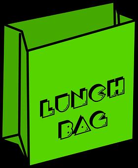 Lunch, Bag, Food, Paper, School, Packaging, Package