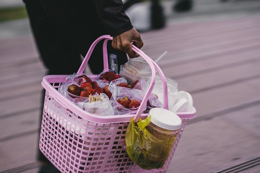 Hawkers, Strawberry, Sell, People, Pay, Money