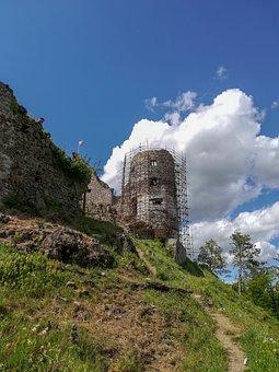 Castle, Revište, žarnovica, History, Nature, Ruins