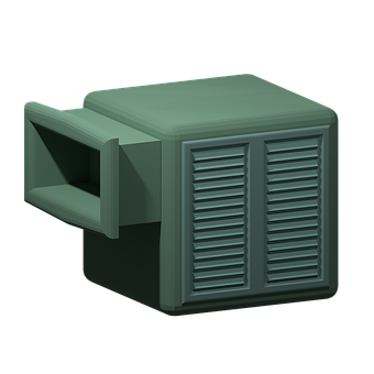 Swamp Cooler, Air Conditioner, Summer, Orthographic