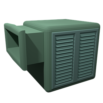 Swamp Cooler, Air Conditioner, Summer, Perspective