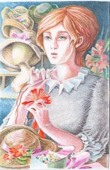 Graphics, Watercolor, Watercolor Pencils, Illustration