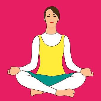 Meditation, Yoga, Woman, Sitting, Lotus, Pose, Female