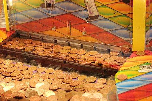 Coin Drop Machine, Arcade, Money, Coins, Winner, Play
