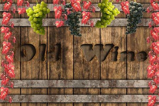Wine Barrel, Wine, Grapes, Vines, Autumn, Background