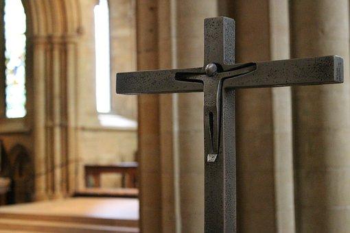 Cross, Crucifix, Christ, Cathedral, Jesus, Faith, God