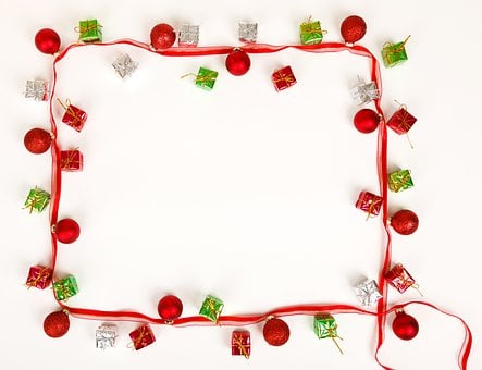 Background, Ball, Bauble, Blank, Border, Bow, Christmas