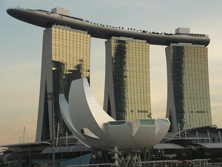 Marina Bay Sands, Singapore, Bay, Marina, Asia, City