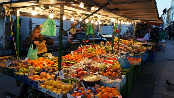 Market, City, Fruit, Sell, Sale, Itinerant, People