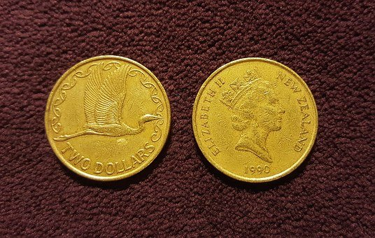 Coins, Dollars, Two Dollar Coin, Gold Coins