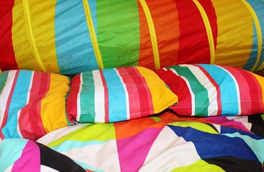 Pillow, Bed Linen, Colorful