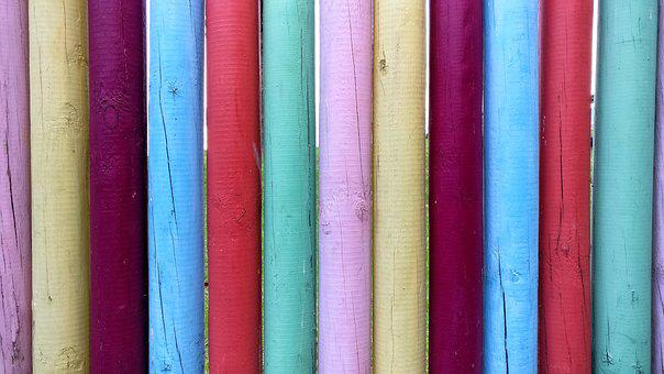 Wood, Colorful, Colors, Sticks, Outdoors, Natural
