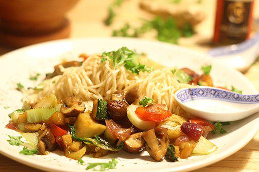 Noodles, Asia, Vegetables, Eat, Chinese, Cook, Fry Up