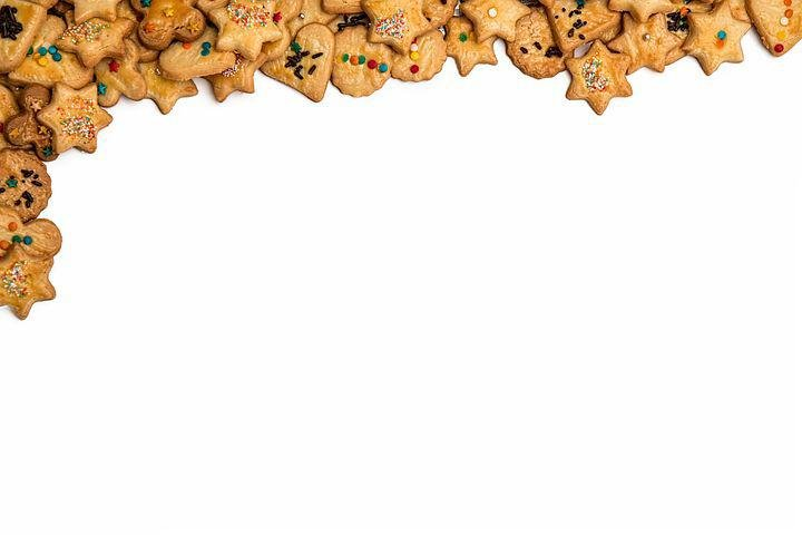 Christmas Border, Cookies, Biscuits, Wallpaper