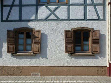 Windows, Wall, House, Design, Front, Facade, Structure