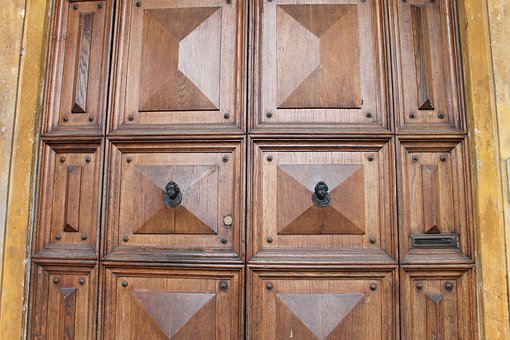 Wooden, Doors, Entrance, Closed, Woody, Frames, Designs