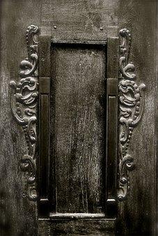 Doors, Black And White, Grey, Gray, Closed, Walls