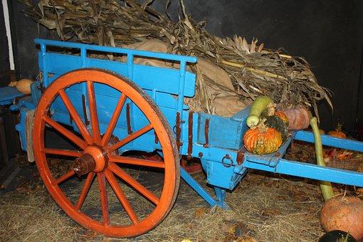 Cart, Wagon, Farm Wagon, Agriculture, Farmer, Wheel