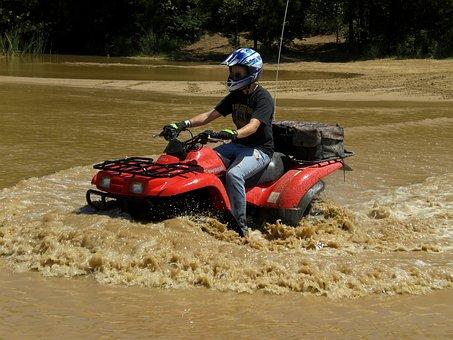 Mud, Four-wheel, Off-road, Water, Splash, Fun, Dirt