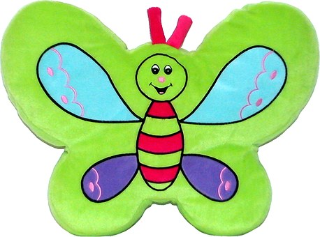 Green Color, Pillow, Child, Butterfly