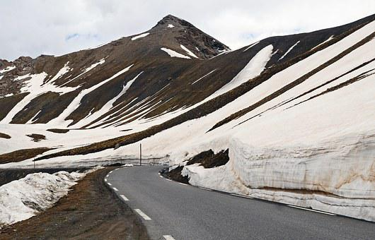 High Alps, Pass Road, Snow Reste, June, 2800m