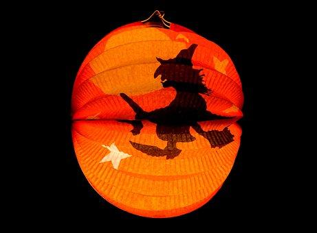 Lantern, Halloween, Autumn, The Witch, Orange