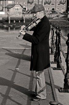 Violinist, Violin, Music, Artist, Man, People, Black