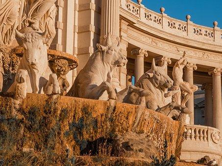 France, Marseille, Statue, Palais, Longchamp, Museum