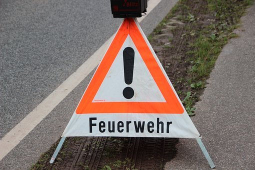 Warnschild, Fire, Signal, Road, Warning, Colours, Note