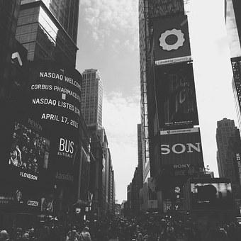 Times Square, New York, City, Nyc, Crowd, Busy, Traffic