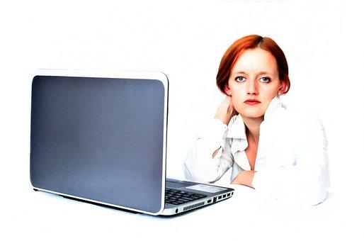 Woman, Girl, Female, People, Laptop, Business, Job