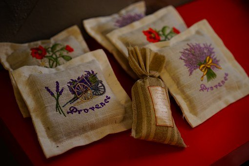 Sachet, Lavender Pillow, Lavender, Pillow, Souvenir