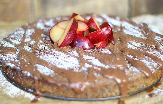 Poppy, Plum, Chocolate, Cake, Chocolate Cake, Calories