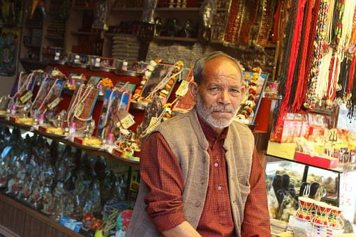 Man, Shopkeeper, Shop, People, Smile, Religion
