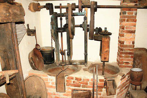 Oil Mill, Romantic, Ancient Times, Old Craft