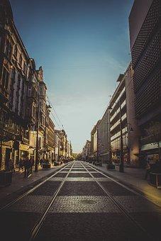 Street, City, Katowice, Silesia, City Street, Urban