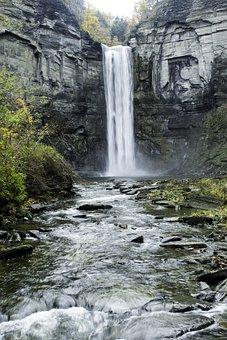 Waterfall, Stream, Downstream, Small Aperture, Flow
