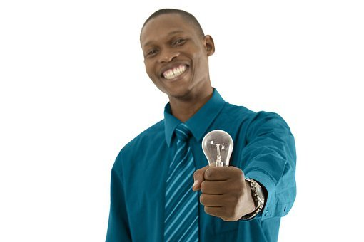 African, Idea, Light Bulg, Electric Bulb, Thinking