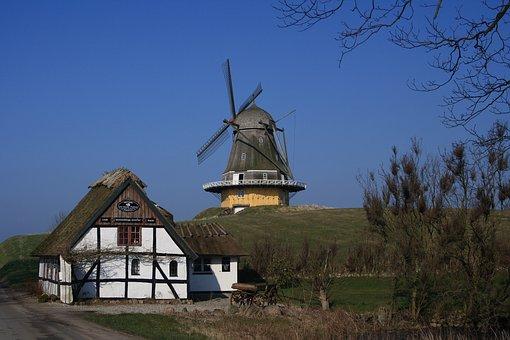 Fyn, Fyns Hoved, Hindsholm, Viby, Mill, Timber Frame